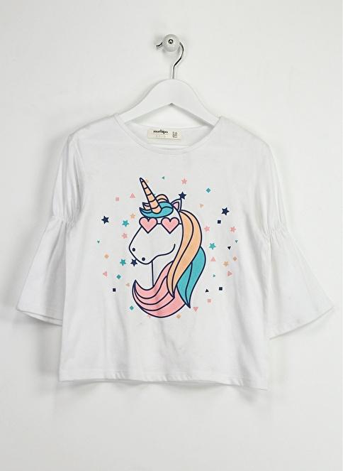 Morhipo Kids Unicorn Uzun Kollu Tişört Beyaz